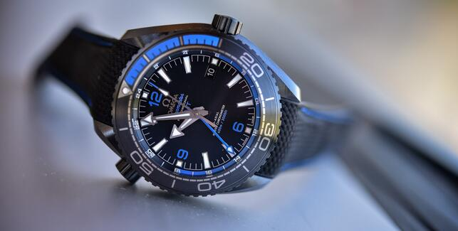 Replica Omega Seamaster Planet Ocean Deep Black