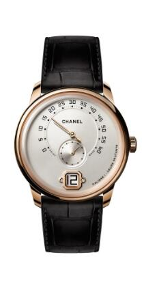 Replica Chanel Monsieur de Chanel watch in slightly pink hued Beige gold